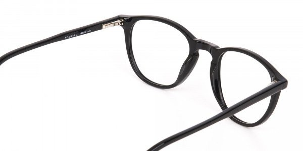 Black Acetate Wayfarer Glasses Unisex-5