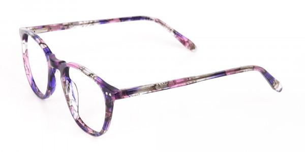 Purple & Rose Pink Tortoise Wayfarer Glasses-3