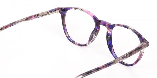 Purple & Rose Pink Tortoise Wayfarer Glasses-5