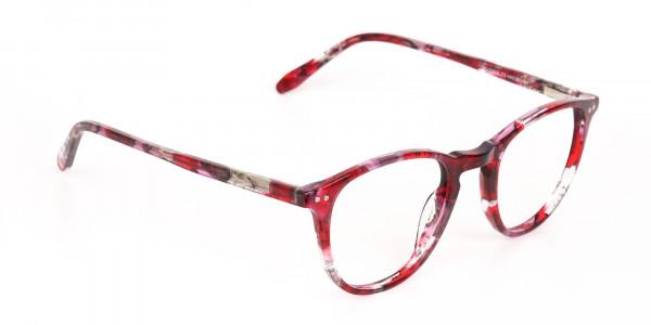 Rose Red Marble Wayfarer Glasses Men Women-2