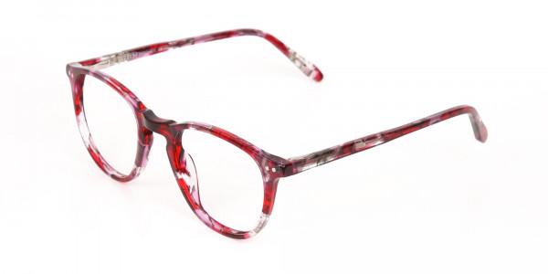 Rose Red Marble Wayfarer Glasses Men Women-3