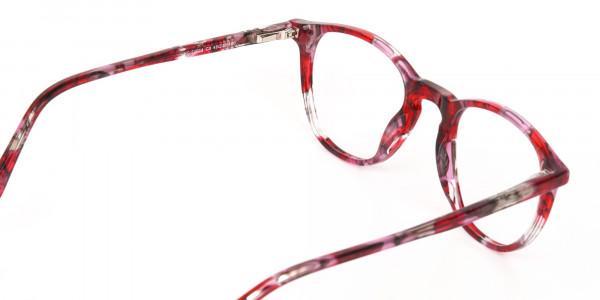Rose Red Marble Wayfarer Glasses Men Women-5