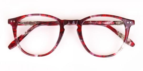 Rose Red Marble Wayfarer Glasses Men Women-6