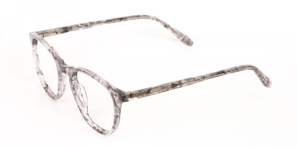 Silver Grey Marble Acetate Wayfarer Glasses-3