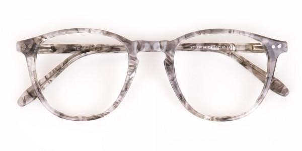 Silver Grey Marble Acetate Wayfarer Glasses-6
