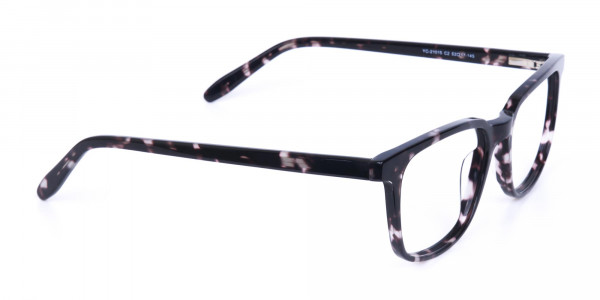 Dark Tortoise Rectangular Glasses Acetate Unisex-2