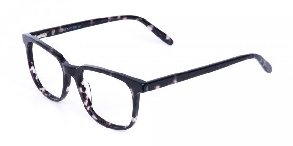 Dark Tortoise Rectangular Glasses Acetate Unisex-3