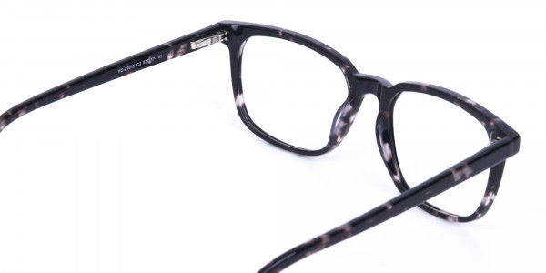 Dark Tortoise Rectangular Glasses Acetate Unisex-5