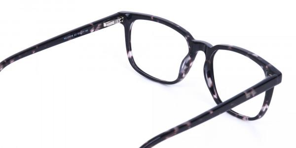 Dark Tortoise Rectangular Glasses Acetate Unisex-5