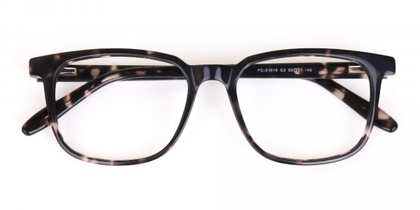 Dark Tortoise Rectangular Glasses Acetate Unisex-6