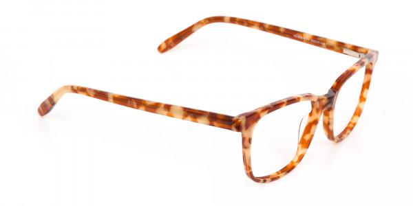 Caramel Tortoise Rectangular Glasses Unisex-2