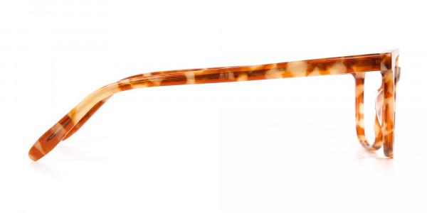 Caramel Tortoise Rectangular Glasses Unisex-4
