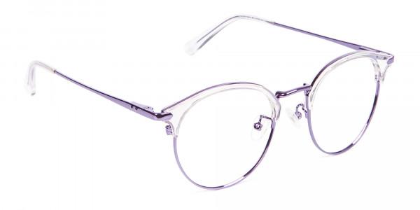 See-Through Browline Round in Purple- 2