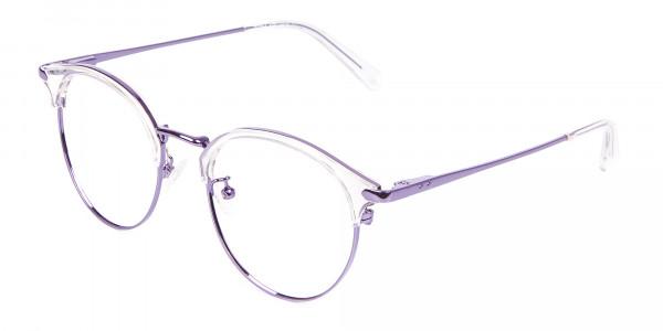 See-Through Browline Round in Purple- 3