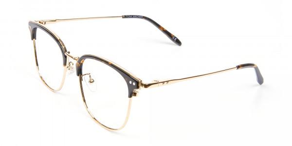 Square Tortoiseshell Browline Glasses - 2