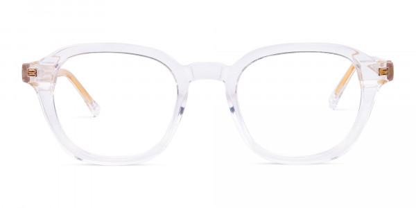 clear framed blue light glasses-1