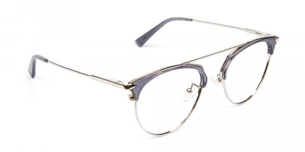 Translucent Browline Spring Hinge Glasses - 2