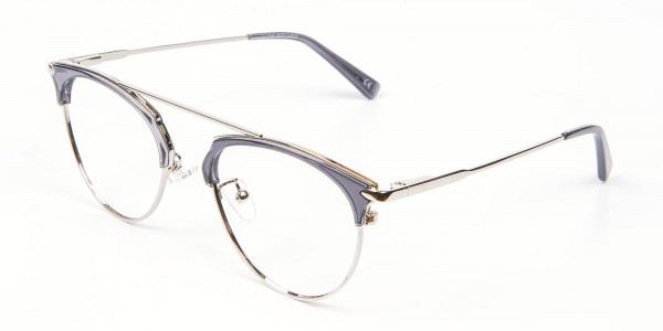 Translucent Browline Spring Hinge Glasses - 3