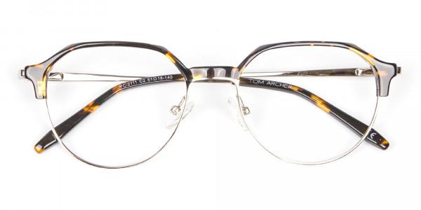 Havana & Tortoiseshell Browline Style Glasses - 6