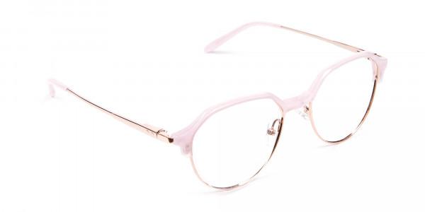 Fantasy Rosy Octagonal Glasses - 2