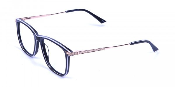 Black & White with Gold Arm Frames -2
