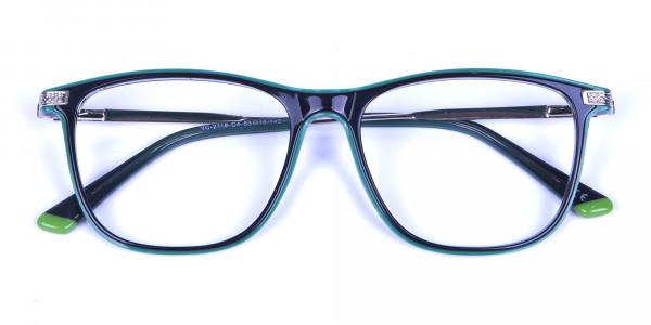 Geometric Black & Silver Frames -5