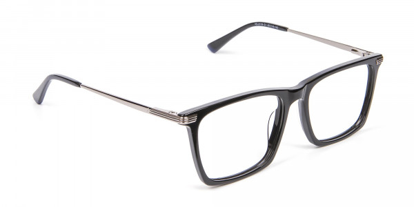Bold black eyeglasses -2