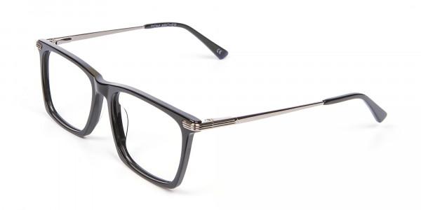 Bold black eyeglasses -3