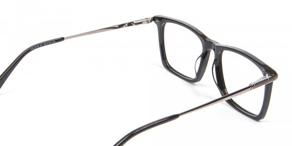 Bold black eyeglasses -5