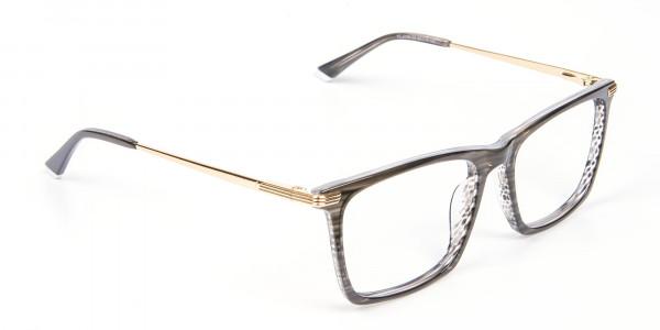 Black Wooden Textured Glasses- 2