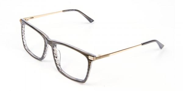 Black Wooden Textured Glasses- 3