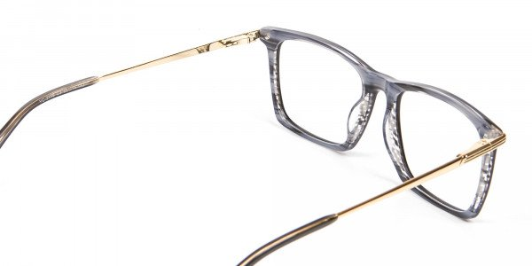 Black Wooden Textured Glasses- 5