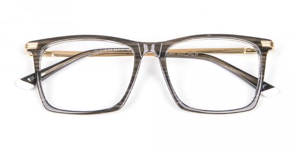 Black Wooden Textured Glasses- 6