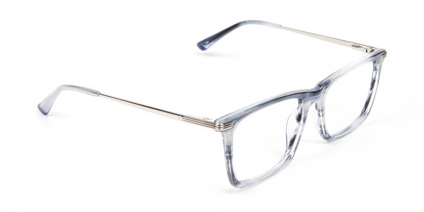 Silver Grey Colour Glasses Narrow Bridge - 2