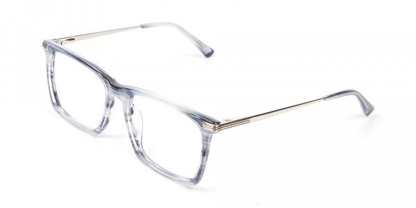Silver Grey Colour Glasses Narrow Bridge- 3