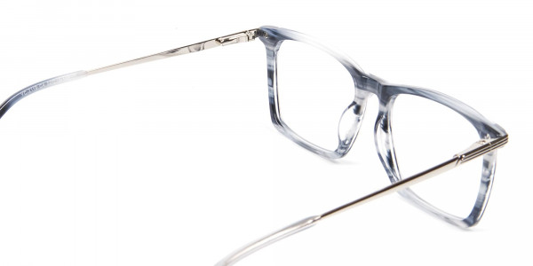 Silver Grey Colour Glasses Narrow Bridge - 5