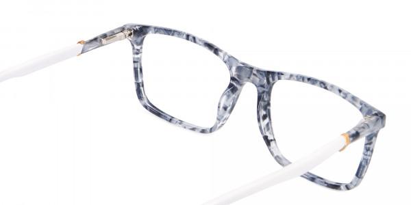 Blue Marble Rectangular Glasses, Online UK -5