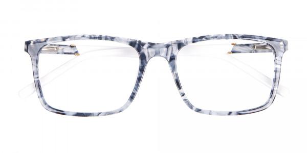 Blue Marble Rectangular Glasses, Online UK -6