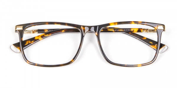 Tortoiseshell Glasses with Gold Hinge - 6