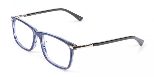 Comfort Fit Blue Rectangular Frame - 3