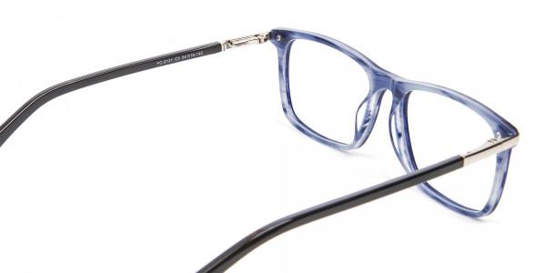 Comfort Fit Blue Rectangular Frame - 5