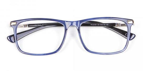Comfort Fit Blue Rectangular Frame - 6