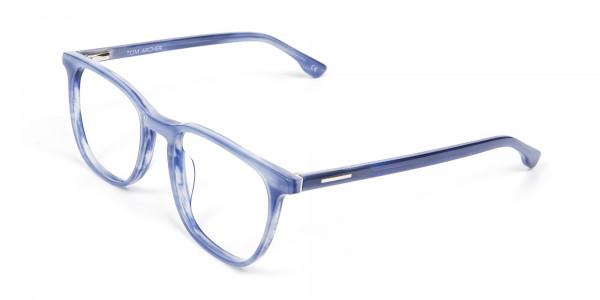 Fresh Blue Designer Glasses - 3