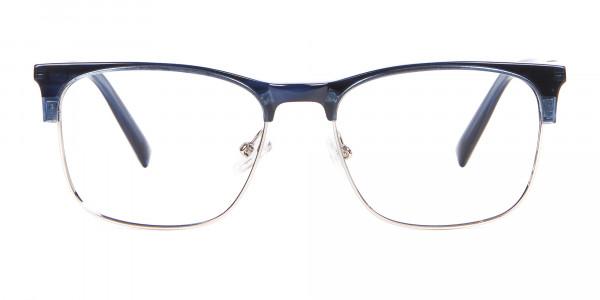 Blue Browline Rim Frame - 1