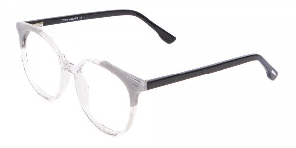 Smart Round Glasses in Trendy Clear Style - 3