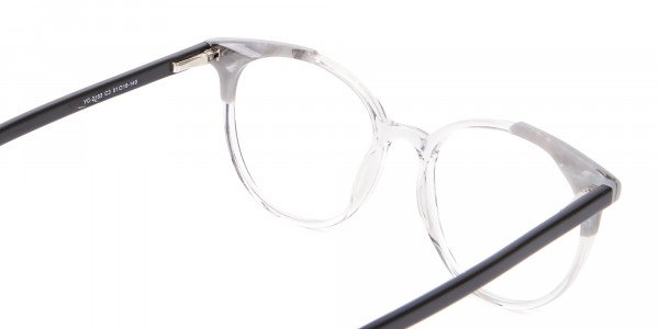 Smart Round Glasses in Trendy Clear Style - 5