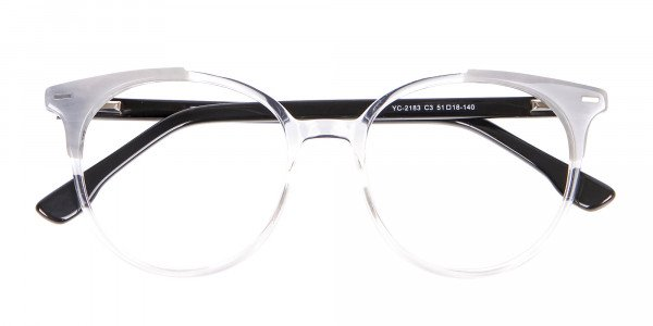 Smart Round Glasses in Trendy Clear Style - 6