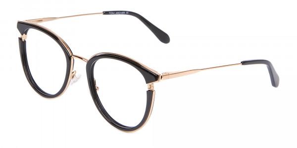 Black & Gold Round Frame Avant-Garde-3