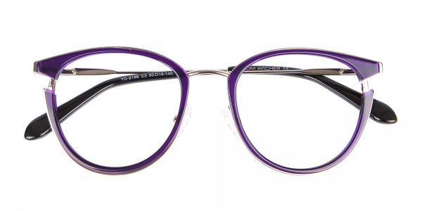 Violet Purple Retro Round Frame-6