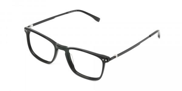Designer Black Frame glasses in Rectangular - 3